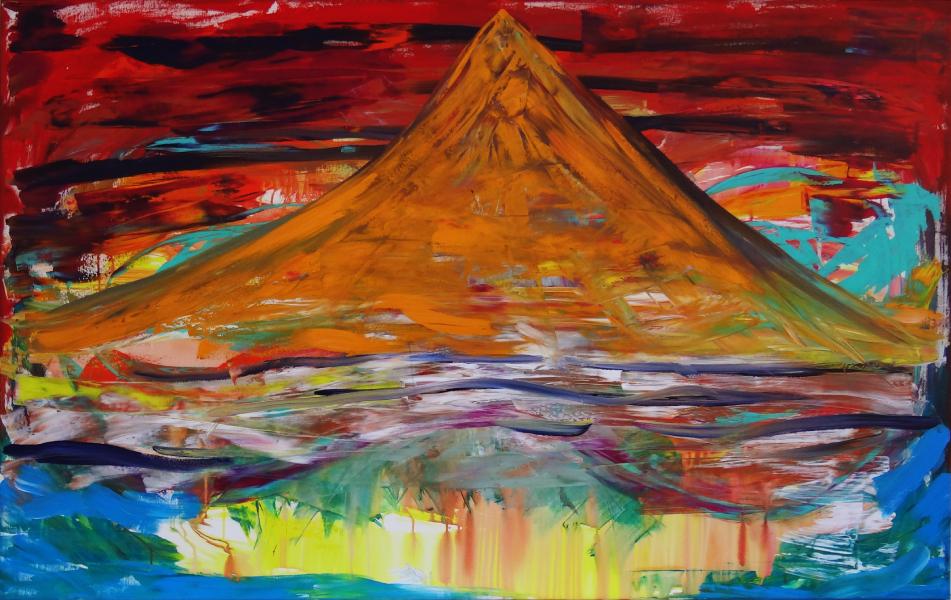 Bjerget Hvor Ringen Skal Ofres, 160 x 100 cm, akryl