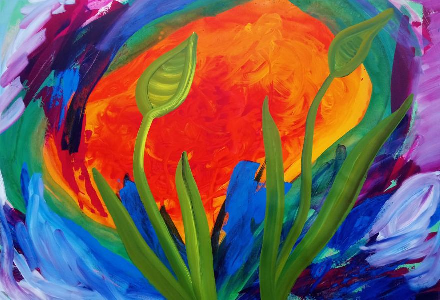 I Junglen, 110 x 75 cm, akryl